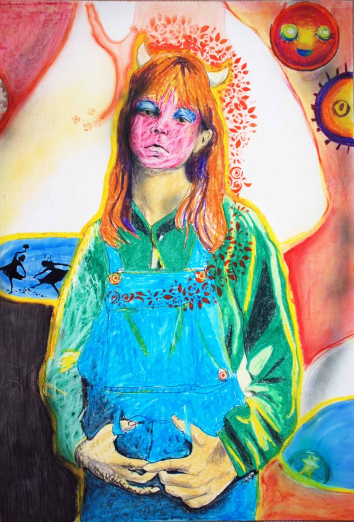 """""""Butter Wouldn't Melt"""" Oil pastel on Yupo"""