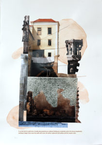 "Photo and mixed media collage with quotes from ""The Architecture of Happiness' by Allain DeBotton"
